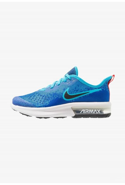 Nike AIR MAX SEQUENT 4 - Chaussures de running neutres indigo force/black/light blue fury/habanero red liquidation