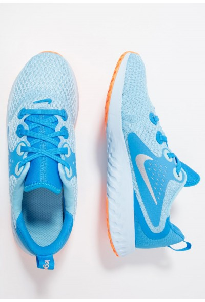 Nike LEGEND REACT - Chaussures de running neutres - blue chill/metallic silver-blue hero blue chill/metallic silver-blue hero-cobalt tint/orange pulse liquidation