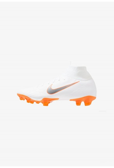 Nike MERCURIAL 6 PRO FG - Chaussures de foot à crampons white/metallic cool grey/total orange liquidation