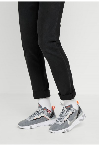 Nike REACT ELEMENT 55 WE - Baskets basses cool grey/metallic silver/hyper crimson liquidation