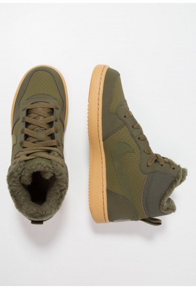 Nike COURT BOROUGH MID - Baskets montantes olive/light brown liquidation