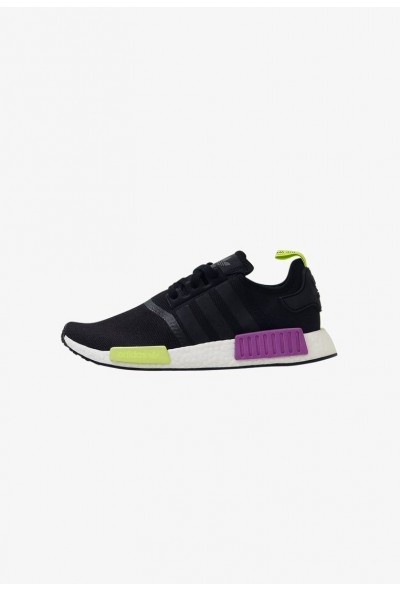 Adidas NMD R1 - Baskets basses core black/core black/shock purple pas cher