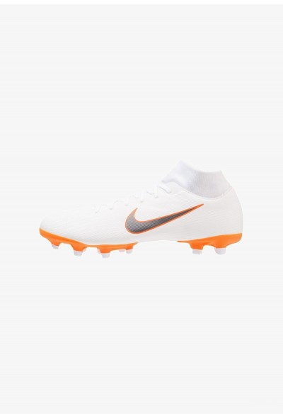 Nike MERCURIAL 6 ACADEMY MG - Chaussures de foot à crampons white/chrome/total orange liquidation