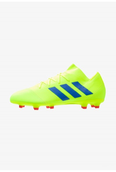 Adidas NEMEZIZ 18.2 FG - Chaussures de foot à crampons solar yellow/football blue/active red pas cher