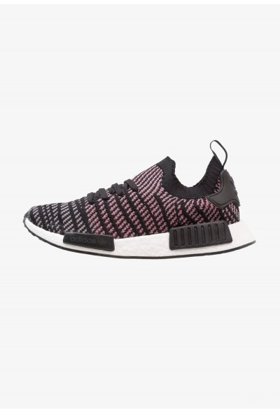 Adidas NMD_R1 STLT PK - Baskets basses core black/grey four/solar pink pas cher