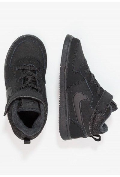 Nike COURT BOROUGH MID (TDV) - Baskets montantes black liquidation