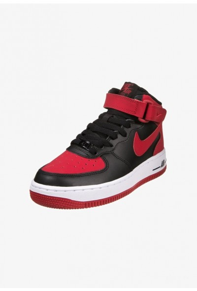 Nike AIR FORCE 1 - Baskets montantes black/gym red/white liquidation
