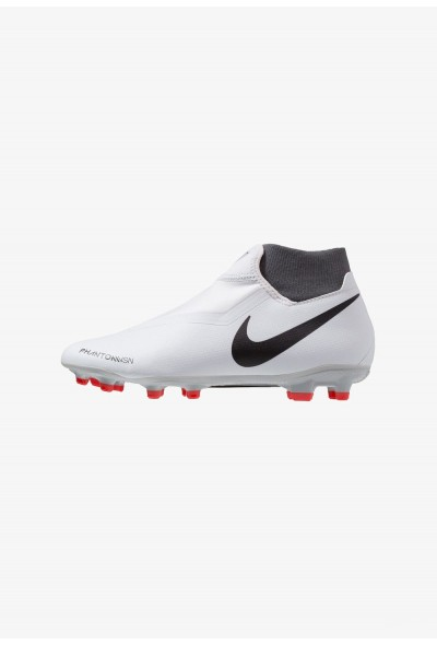 Nike PHANTOM OBRA 3 ACADEMY DF MG - Chaussures de foot à crampons wolf grey/metallic dark grey/dark grey/light crimson/pure platinum liquidation