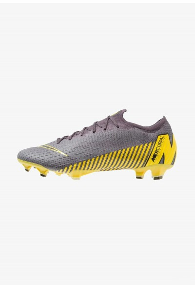 Nike MERCURIAL VAPOR 12 ELITE FG - Chaussures de foot à crampons thunder grey/black/dark grey/opti yellow liquidation