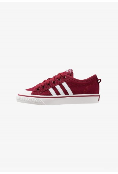 Adidas NIZZA - Baskets basses collegiate burgundy/footwear white/crystal white pas cher
