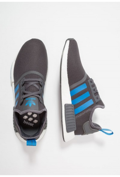 Adidas NMD_R1 - Baskets basses grey five/bright blue pas cher