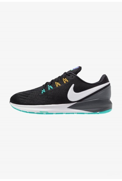 Nike AIR ZOOM STRUCTURE  - Chaussures de running stables black/white/dark grey/hyper jade liquidation