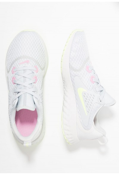 Nike LEGEND REACT - Chaussures de running neutres pure platinum/barely volt/platinum tint/pink rise liquidation