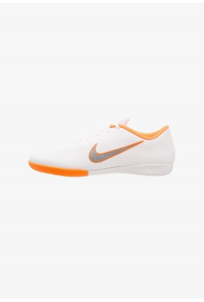 Nike MERCURIAL VAPORX 12 ACADEMY IC - Chaussures de foot en salle white/chrome/total orange liquidation