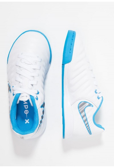 Nike TIEMPO LEGENDX 7 ACADEMY IC - Chaussures de foot en salle white/chrome/blue hero liquidation