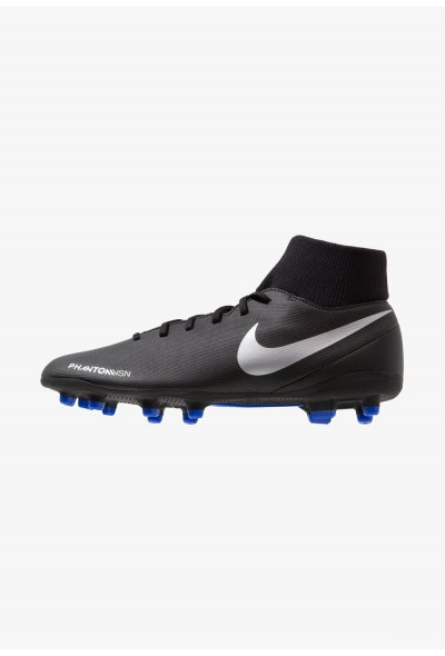 Nike PHANTOM OBRA 3 CLUB DF MG - Chaussures de foot à crampons black/metallic silver/racer blue liquidation