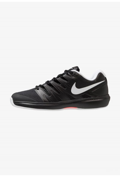 Nike AIR ZOOM PRESTIGE CLY - Chaussures de tennis sur terre battue black/white/bright crimson liquidation