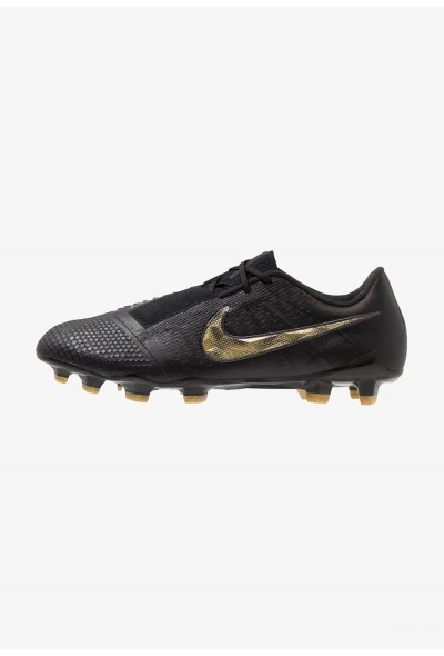 Nike PHANTOM ELITE FG - Chaussures de foot à crampons black/metallic vivid gold liquidation