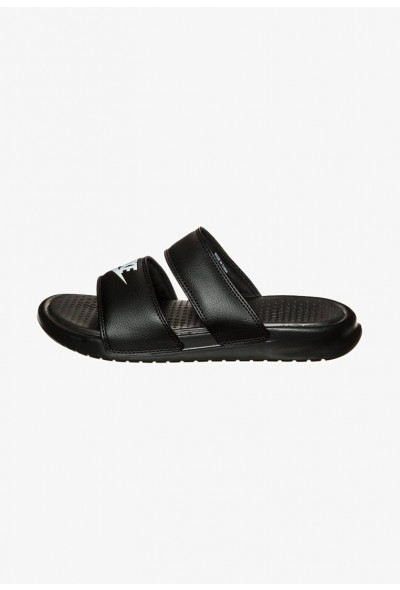 Black Friday 2020 | Nike BENASSI DUO ULTRA SLIDE - Mules black/white liquidation