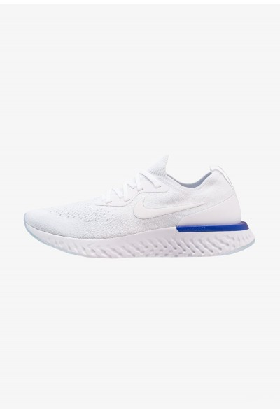 Nike EPIC REACT FLYKNIT - Chaussures de running neutres white/racer blue liquidation