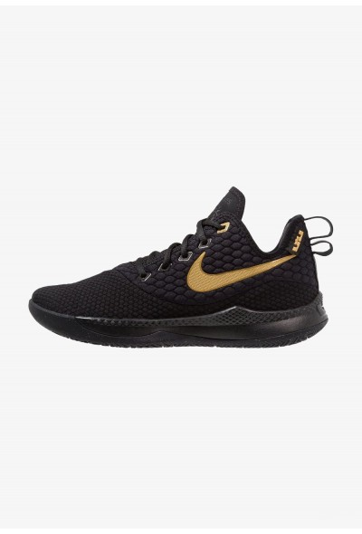 Nike LEBRON WITNESS III - Chaussures de basket black/metallic gold liquidation