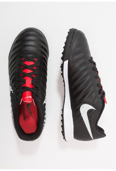 Nike TIEMPO LEGENDX 7 ACADEMY TF - Chaussures de foot multicrampons black/pure platinum/light crimson liquidation
