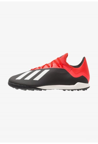 Adidas X 18.3 TF - Chaussures de foot multicrampons core black/offwhite/active red pas cher