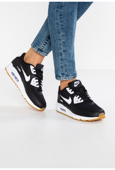 Nike AIR MAX - Baskets basses black/white/light brown liquidation