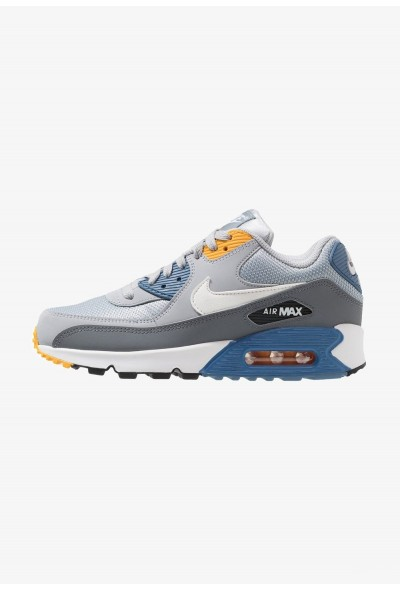 Nike AIR MAX 90 ESSENTIAL - Baskets basses wolf grey/white/indigo storm/university gold/cool grey/anthracite liquidation