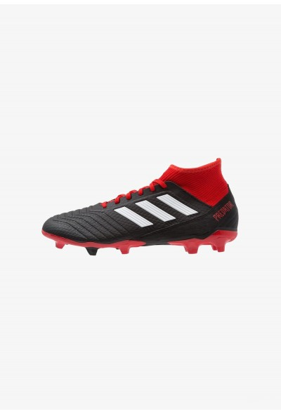 Adidas PREDATOR 18.3 FG - Chaussures de foot à crampons core black/footwear white/red pas cher