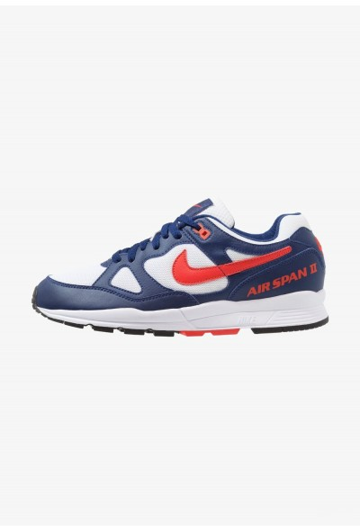 Nike AIR SPAN II - Baskets basses blue void/habanero red/white/black liquidation