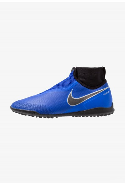 Nike PHANTOM REACT OBRA PRO TF - Chaussures de foot multicrampons racer blue/black/metallic silver/volt/white liquidation