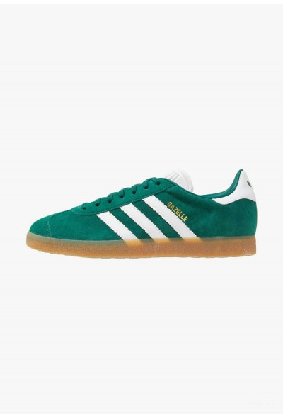 Adidas GAZELLE - Baskets basses collegiate green/footwear white pas cher