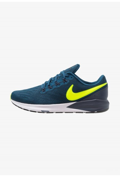 Nike AIR ZOOM STRUCTURE  - Chaussures de running stables blue force/volt/thunder blue/black/white liquidation