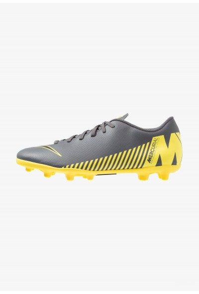 Nike MERCURIAL VAPOR 12 CLUB MG - Chaussures de foot à crampons dark grey/black/opti yellow liquidation