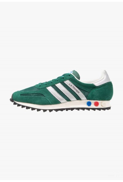 Adidas LA TRAINER OG - Baskets basses collegiate green/matte silver/core black pas cher