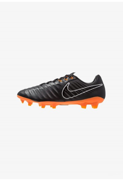 Nike TIEMPO LEGEND 7 PRO FG - Chaussures de foot à crampons black/total orange/white liquidation