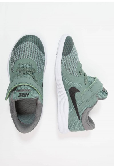 Nike REVOLUTION 4 - Chaussures de running neutres clay green/black/river rock/white liquidation