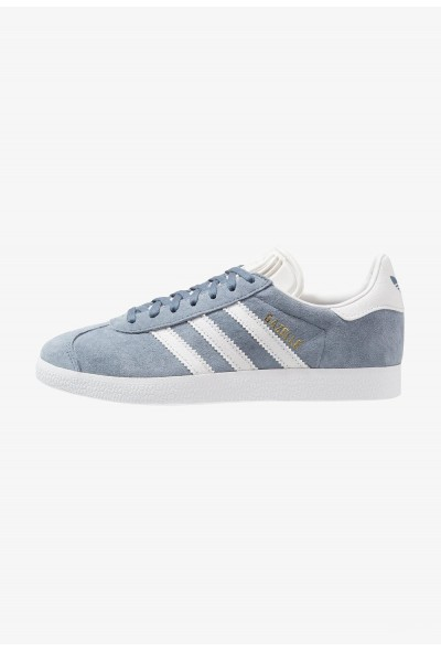Adidas GAZELLE - Baskets basses raw steel/crystal white/footwear white pas cher