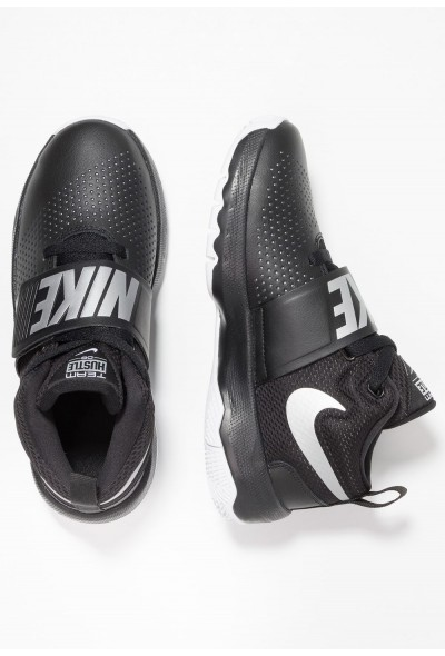 Black Friday 2019 | Nike TEAM HUSTLE D 8 - Chaussures de basket black/metallic silver/white liquidation