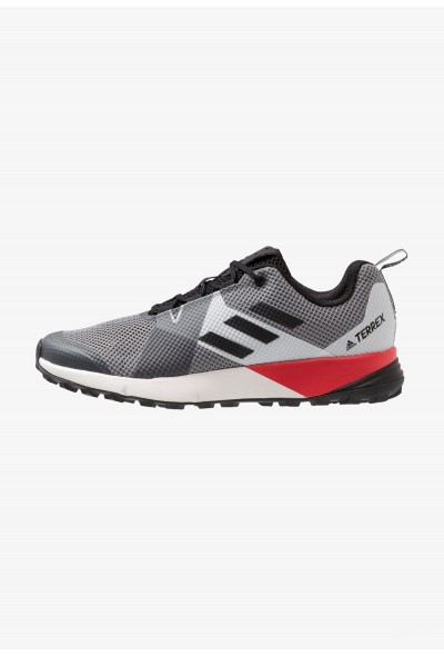 Black Friday 2019 | Adidas TERREX TWO - Chaussures de marche grey three/clear black/active red pas cher