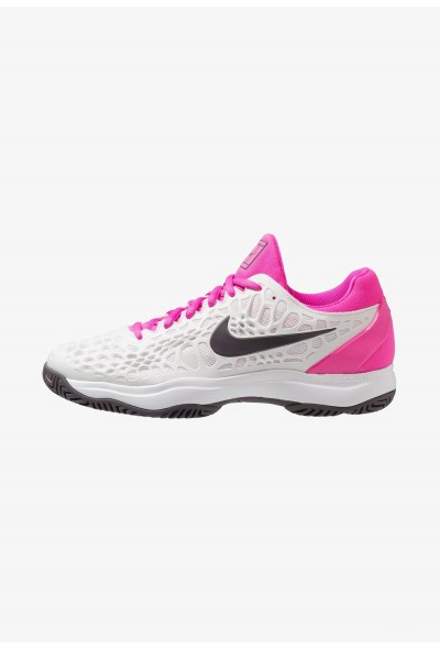 Black Friday 2020 | Nike AIR ZOOM CAGE 3 HC - Chaussures de tennis sur terre battue platinum tint/thunder grey/laser fuchsia liquidation