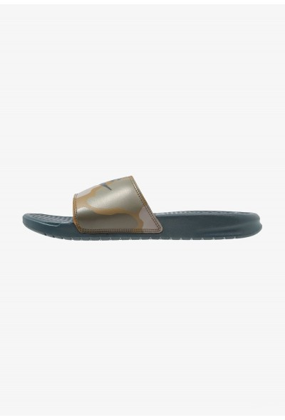 Black Friday 2020 | Nike BENASSI JDI PRINT - Mules midnight spruce liquidation