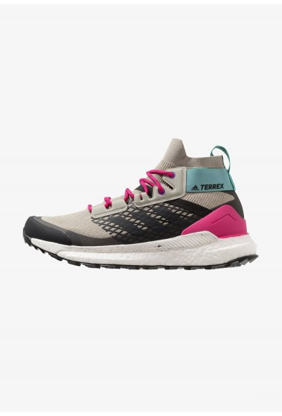 Adidas TERREX FREE HIKER - Chaussures de marche sesame/raw white/real magenta pas cher