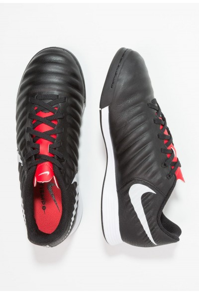 Nike TIEMPO LEGENDX 7 ACADEMY IC - Chaussures de foot en salle black/pure platinum/light crimson liquidation
