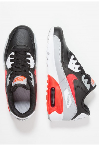 Nike AIR MAX 90  - Baskets basses wolf grey/bright crimson/black/white liquidation