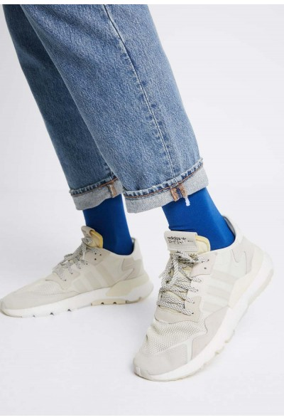 Adidas NITE JOGGER - Baskets basses - beige/off beige/off-white/white pas cher