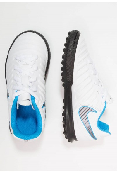 Nike TIEMPO LEGENDX 7 CLUB TF - Chaussures de foot multicrampons white/chrome/blue hero liquidation