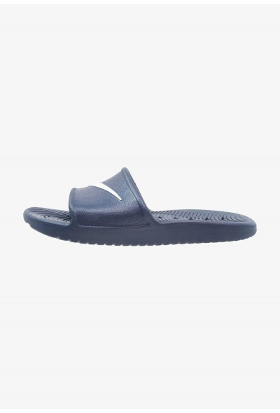 Nike KAWA SHOWER - Sandales de bain midnight navy/white liquidation