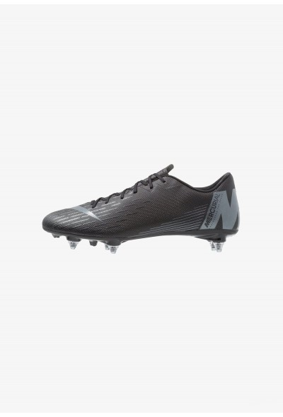 Nike MERCURIAL VAPOR 12 ACADEMY SG PRO - Chaussures de foot à lamelles black/anthracite/light crimson liquidation